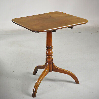 Antique Country Snap Top Tripod Table Elm C1860 (delivery £40)