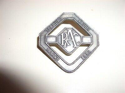 Royal Automobile Club Torquay Rally - March 1936 Competitor's lapel badge