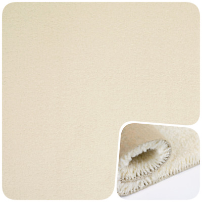 SOFT 14mm THICK Beige Cream Saxony 4m Wide Carpet £7.99Sqm- Cheapest eBay Seller