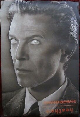 Original BOWIE 'HEATHEN' Double-Sided PROMO POSTER (Columbia 2002) 610x910mm