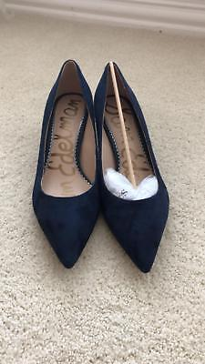 d317226a51f SAM EDELMAN WOMEN'S Dori Pump, Baltic Navy Suede, 8.5 M US