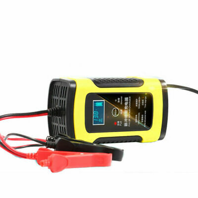 12V 6A Pulse Repair LCD Battery Charger For Car Motorcycle Lead Acid Battery