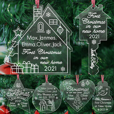 New Home 1st Christmas Tree Bauble Personalised First Santa Xmas Gift Ornament
