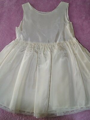 Vintage 1970's Girls Slip Size 6 Lace Trim Worn Under First Communion Dress