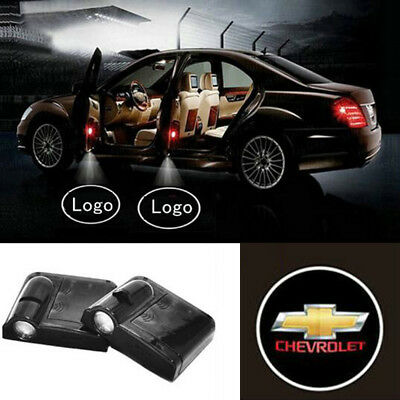 2x Ghost Shadow Projector Logo Cree Led Light Courtesy Door Step For Chevrolet