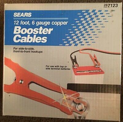 Sears  Booster Jumper Cables 6 Gauge Copper 12 ft.