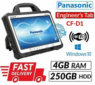 "13.3"" PANASONIC TOUGHBOOK CF-D1 INTEL 847 4GB 250GB WIN 10 for Diagnostic Tablet"