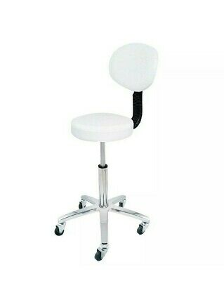 Deo White Cutting Beauty Salon Tattoo Lashes Spa Gas Lift Stool With Backrest