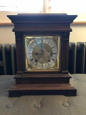 Antique Winterhalder Hofmeier W & H Walnut Mantle/ Bracket Clock