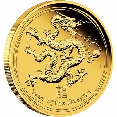 Australia 2012 1/10 Oz Lunar Series II Year of the DRAGON GOLD Proof Coin SALE!
