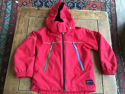 Polarn O. Pyret child's red 100% waterproof coat (5 - 6 years)