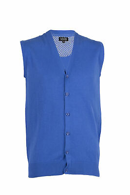 d10937dfd8 GILET IN PURO cotone uomo con bottoni royal Regular fit