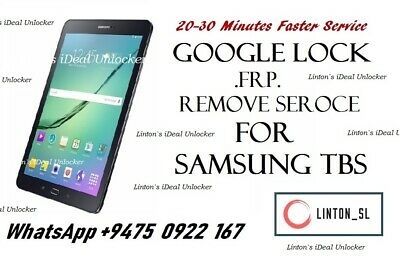 SAMSUNG GALAXY TABLET frp bypass/remove google account lock Tab A