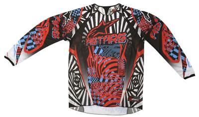 Alpinestars Charger Jersey Top Shirt BK/RD/CYAN Motocross Mx Enduro Quad Offroad
