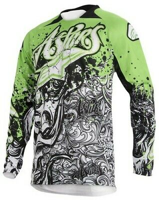 Alpinestars Charger Jersey Top Shirt BLK/WHT M Motocross Mx Quad Offroad
