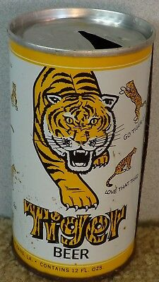 *OLD* Tiger Ring Pull Top Jackson brewing beer can