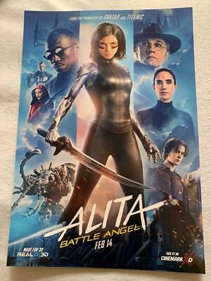 ALITA: BATTLE ANGEL 12X17.5  Original Promo Movie Poster MINT Cinemark FAN EVENT
