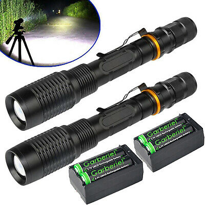 Tactical Police 350000Lumens T6 LED 5Modes 18650 Flashlight Aluminum Focus Torch