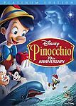 Pinocchio DVD 2-Disc Set, 70th Anniversary Platinum Edition New with Slipcover