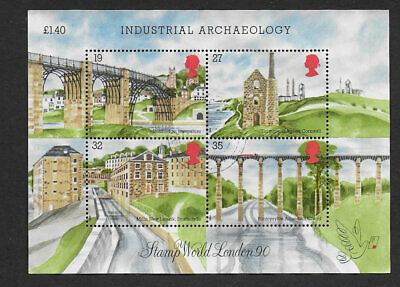 1) GB Stamps 1989 Industrial Archaeology Mini Sheet.  Good Used.