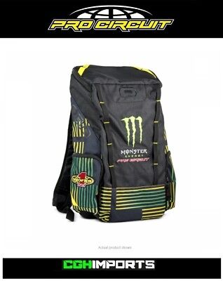 8e83092a3c3 Pro Circuit Monster Energy Event Back Pack Rucksack Laptop Bag Cgh Mx