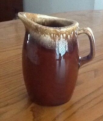 Hull Brown Drip Small Pitcher USA Pottery Vintage Glazed