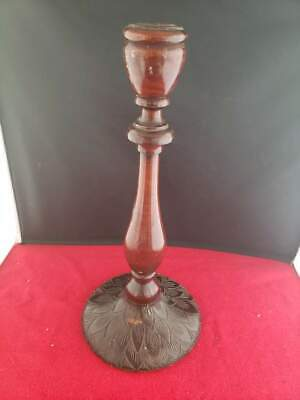 """Vintage Antique 12"""" Tall Wooden Candlestick Candle Holder"""