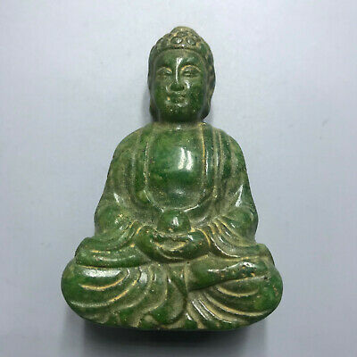 Chinese old natural jade hand-carved statue pendant 115