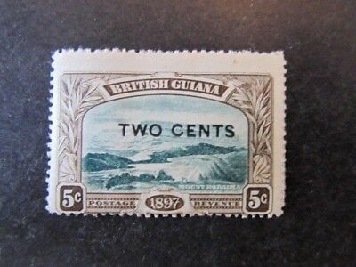 BRITISH GUIANA, SC# 157a, with MISSING PERIOD (BESIDE the S) (1897)