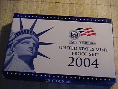 2004 S US Mint Proof 11 Coin Set Complete with Box / COA