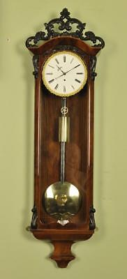 BIEDERMEIER VIENNA REGULATOR WALL CLOCK Moslinger in Wein