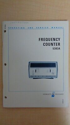 HP Frequency Counter 5383A Operating and Service Manual 6F B5