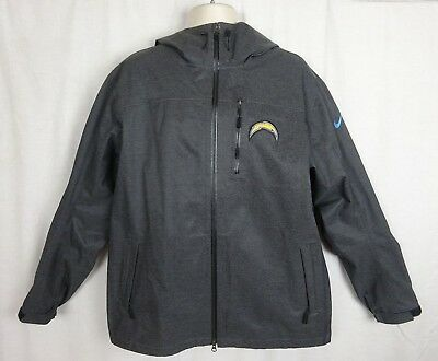 Chargers NFL Nike On Field Apparel Storm Fit Hooded Lightweight Jacket ~ XL 6234b57f2