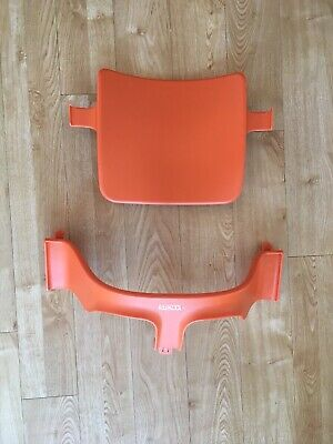 Stokke Tripp Trapp High Chair Baby Set - Lava Orange, Great Condition
