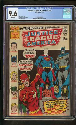 Justice League of America #89 (CGC 9.6 White) Neal Adams Batman cover 1971 DC