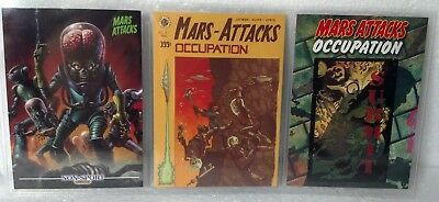2015 Topps Mars Attacks 3Lot Promos & Kickstarter Hard to find Occupation series