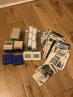 Collection Of Old 35mm Slides And 100+ B&w Photographs