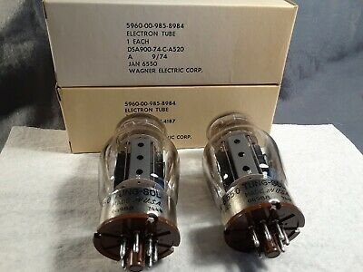 Tung Sol 6550 Tubes, Pair  New Unused, Usa Production, Jan .  .