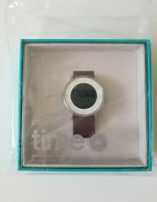 Pebble Time Round 20mm Silver - New, Sealed *International Shipping*