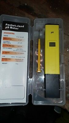 PH Meter Water Tester Pocket Digital Pen LCD Monitor Pool Aquarium Laboratory