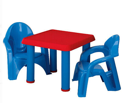 Kids Plastic Table Chairs Set Toddler In Outdoor Furniture