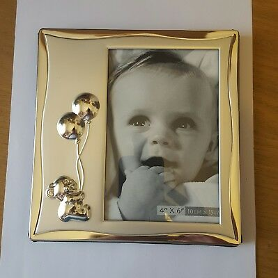 Juliana Impressions silver plated baby christening photo frame. 4 X6 inch.