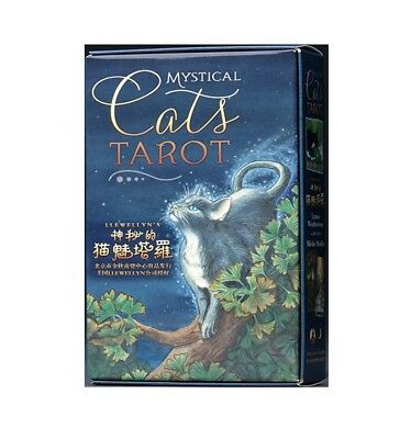 78pcs Tarot Cards Mystial Cats Chinese/English High Quality Paper Board Game