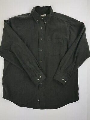 e0551f8071e15 Vintage LL Bean Chamois Flannel Shirt Men s Large 18 Button Down Made in USA
