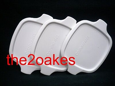 3 Corning Ware Replacement Plastic Lid Cover P-43 P-41 Petite Pan Casserole Dish