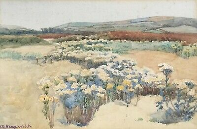 Lucy Kemp Welch(1869-1958) Signed Impressionist Watercolour 20Th C. Landscape