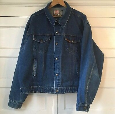 Vintage Key Jean Jacket Large sz 50 Workwear Distressed Denim Trucker big tall