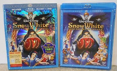 Snow White and the Seven Dwarfs (Blu-ray/DVD 2009 3-Disc) NEW W SLIPCOVER BUENA