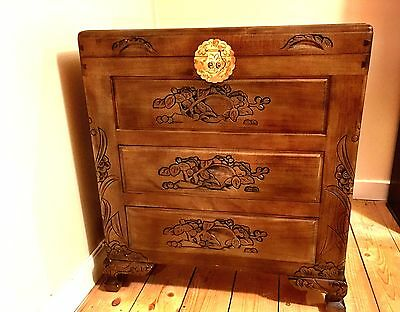 Oriental camphor wood chest of drawers