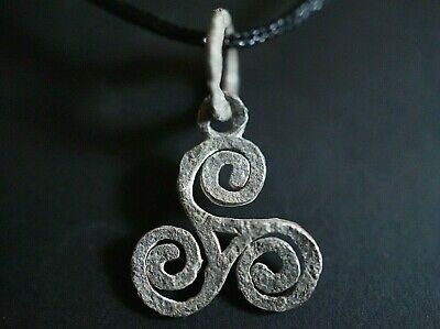 Ancient Celtic Silver Amulet depicting Triskele Eternity Loop, circa 100-50 Bc.